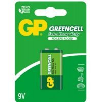 Батарейки GP battery Greencell 9V(1) 1604GLF-2UE1