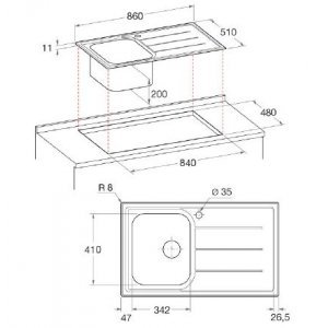 Кухонная мойка Hotpoint-Ariston SC 86W1 (X) HA (Silver)