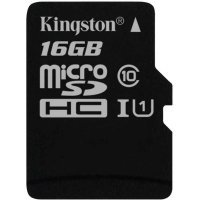 Карта памяти Kingston 16GB microSDHC Canvas Select 80R CL10 (SDCS/16GBSP)