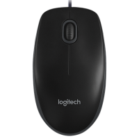 Проводная мышь Logitech Corded Mouse B100 Black