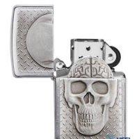 kupit-Зажигалка Zippo Skull with Brain-v-baku-v-azerbaycane