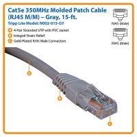 kupit-Кабель Tripp Lite Cat5e 350MHz Molded Patch Cable RJ45M/M - 15 ft. (5m) (N002-015)-v-baku-v-azerbaycane