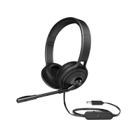 Гарнитура с микрофоном HP USB 500 Headset Black (1NC57AA)