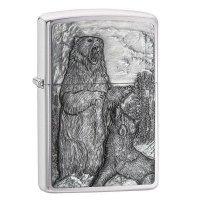 kupit-Зажигалка Zippo Bear Vs. Wolf-v-baku-v-azerbaycane