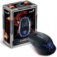 kupit-Проводная мышь Genius X-G500, 6B, USB, Blue (31010163101)-v-baku-v-azerbaycane