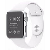 kupit-Электронные часы Apple S2 42mm Silver - White Sport (MNPJ2)-v-baku-v-azerbaycane