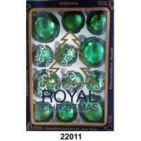 kupit-12 Новогодних шаров Royal Christmas - Зелёные (22011)-v-baku-v-azerbaycane