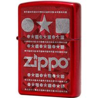 kupit-Зажигалка Zippo Circle Star Square Candy Apple Red-v-baku-v-azerbaycane