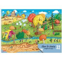 kupit-aльбом для рисования Hatber На природе A4 32 листо-v-baku-v-azerbaycane