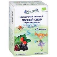 kupit-Чай Fleur Alpine Organik детский травяной Лесной сбор с пребиотиками с 5 месяцев, 20п*1,5г-v-baku-v-azerbaycane