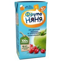 kupit-Сок ФрутоНяня из яблок и шиповника для детей с 5 месяцев, 0,2л-v-baku-v-azerbaycane