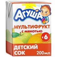 kupit-Сок Агуша Мультифруктовый с мякотью для детей с 6 месяцев, 200мл-v-baku-v-azerbaycane