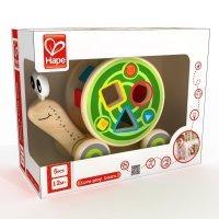 kupit-деревянная игрушка каталка Hape Улитка-v-baku-v-azerbaycane