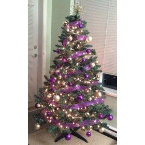 26 Новогодних шаров - Фиолетовые