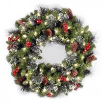 kupit-Венок Royal christmas aston wreath with led (90sm)-v-baku-v-azerbaycane