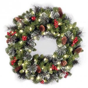 Венок Royal christmas aston wreath with led (90sm)