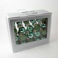 kupit-42 Новогодних шаров - Зеленые-v-baku-v-azerbaycane