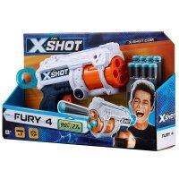 kupit-бластер X-Shot Excel Fury 4 Foam Dart Blaster (8 Darts) 36185-v-baku-v-azerbaycane
