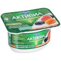 kupit-Кисломолочная Активиа Danone творожная чернослив-курага-инжир 4,2% 130Г-v-baku-v-azerbaycane