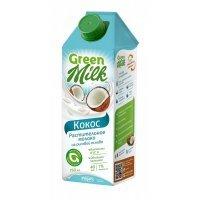 """Green milk Молоко растительного происхождения """"Кокос"""" 750 мл"""