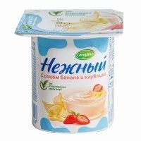 kupit-Йогурт «Нежный» с соком банана и клубники 1,2% 0,1 гр.-v-baku-v-azerbaycane