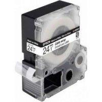 купить Картридж Epson Tape - LC6WBC9 Cable wrap Blk/Wht 24/9 (C53S627404)
