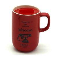 kupit-чашка красная с крышкой 70-v-baku-v-azerbaycane