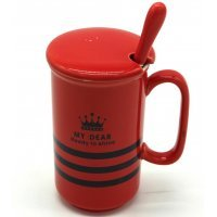 kupit-чашка My Dear с крышкой и ложкой-v-baku-v-azerbaycane