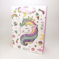 kupit-Подарочный пакет с единорогом с блестками-v-baku-v-azerbaycane