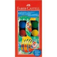 kupit-акварельные краски Faber Castell 12 цветов с кистью 125011-v-baku-v-azerbaycane