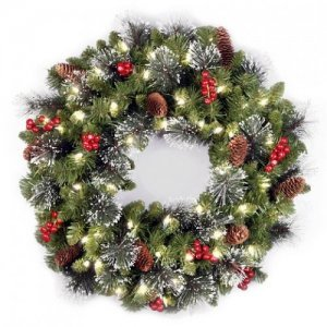 Венок Royal Christmas aston wreath with led (60sm)