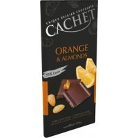 Бельгийский шоколад Cachet Миндаль Апельсин 57%