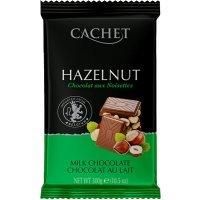 """kupit-Шоколад """"Cachet"""" Milk Chocolate with Hazelnut, 32% Cocoa, 300 г-v-baku-v-azerbaycane"""