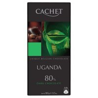 """kupit-Шоколад """"Cachet""""  Uganda Dark Chocolate 80%, 100 г-v-baku-v-azerbaycane"""
