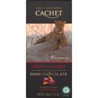 "kupit-Шоколад ""Cachet"" Dark Chocolate With Cherries & Almonds Tanzania, 57% Cocoa, 100 г-v-baku-v-azerbaycane"