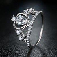 "kupit-Женское кольцо с цирконием ""Crown""-v-baku-v-azerbaycane"